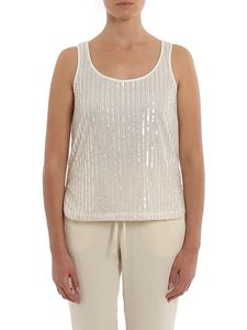 Twin-Set - Sequined tulle top