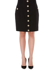 Balmain - Wool skirt with iconic buttons