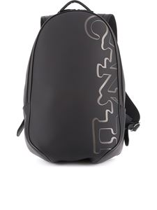Canali - Rubber backpack in black