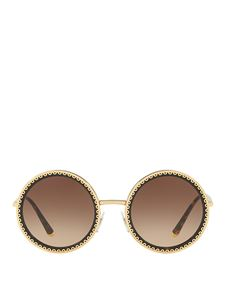 Dolce & Gabbana - Embroidery effect round sunglasses