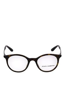 Dolce & Gabbana - Tortoise eyeglasses with engraved temples