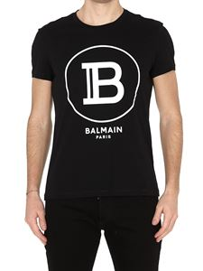 Balmain - Balmain Paris printed black T-shirt