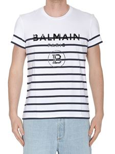 Balmain - Balmain Paris striped T-shirt