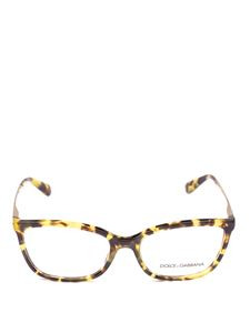 Dolce & Gabbana - Havana eyeglasses with gold-tone temples