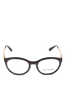 Dolce & Gabbana - Black optical glasses with gold-tone temples