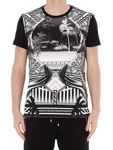 Balmain - Pattern print cotton T-shirt