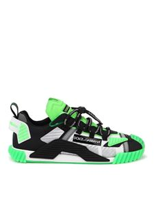 Dolce & Gabbana - NS1 mixed materials neon sneakers