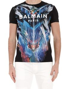 Balmain - Graphic print T-shirt with logo lettering