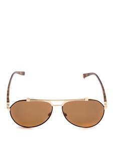 Dolce & Gabbana - Aviator sunglasses with tortoise temples