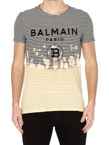 Balmain - Balmain Paris striped vintage T-shirt