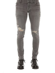 Balmain - Distressed effect jeans