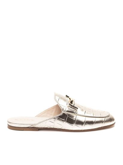 Tod's - Sabot in pelle stampa coccodrillo
