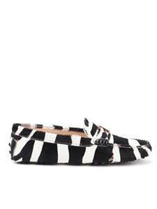 Tod's - Gommino calf hair zebra loafers
