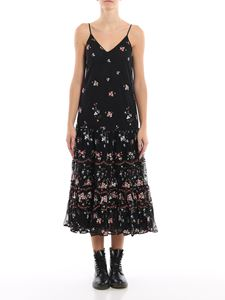 Tory Burch - Embroidered tulle flounced dress