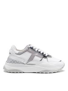 Tod's - Mirror insert leather sneakers