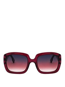 Dior - Transparent red Optyl squared sunglasses