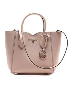 Michael Kors - Mae Messenger small grain leather tote