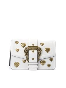 Versace Jeans Couture - Golden heart baroque buckle faux leather bag