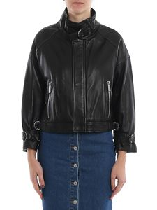 Michael Kors - Soft leather cropped jacket