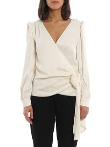 Michael Kors - Satin tie white blouse
