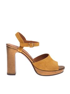 Chie Mihara - Casette sandals in ocher and gold