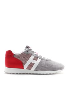 Hogan - H383 red and grey sneakers
