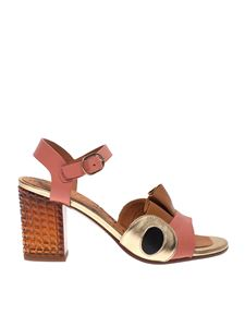 Chie Mihara - Kaela sandals in pink, brown and gold