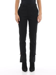 Versace - Cigarette trousers with iconic brooches