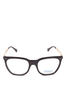 POLO Ralph Lauren - Black acetate and metal frame squared glasses