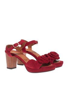 Chie Mihara - Blossom sandals in red