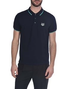 Kenzo - Tiger Crest polo shirt in blue