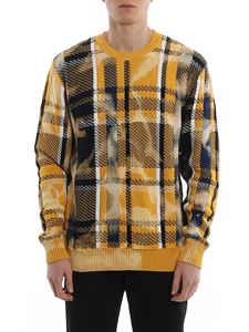 Versace - Tartan patterned crew neck sweater