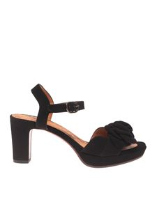 Chie Mihara - Blossom sandals in black