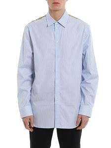 Versace - Baroque panelled striped shirt