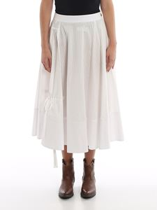 Loewe - Gathered cotton canvas flared skirt