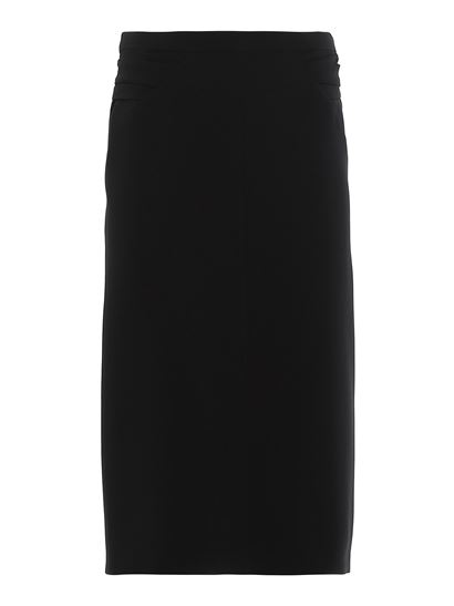 N° 21 - Cady pencil skirt with zip