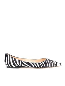 Jimmy Choo - Love zebra print ballerinas in black