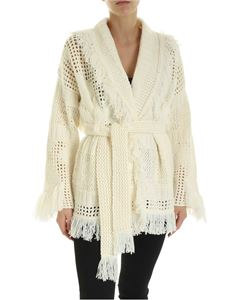 Alanui - Icon Knitted virgin wool cardigan inLapponia White color