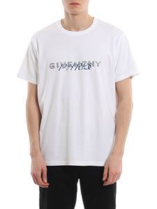 Givenchy - T-shirt in cotone con stampa calligrafica