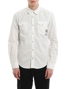 Givenchy - Calligraphic embroidery patch pocket shirt