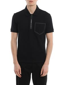 Givenchy - Piqué polo with chest pocket and zip closure
