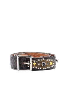 Golden Goose - Studded embossed leather belt
