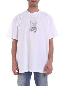 Off-White - T-shirt Dripping Arrows bianca