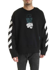 Off-White - Dripping Arrows Incomplete sweatshirt in black