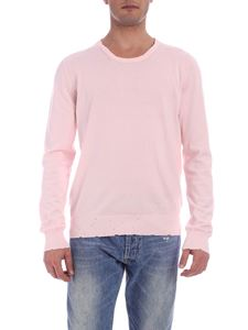 Maison Margiela - Pullover rosa effetto destroyed
