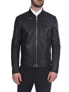 Les Hommes - Real leather jacket in black