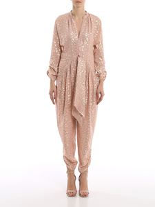Stella McCartney - Polka dot silk belted jumpsuit