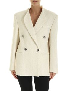 Iro - Ikaria double-breasted jacket in ecru color