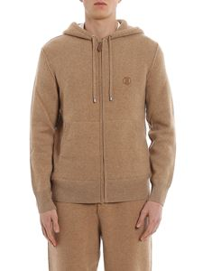 Burberry - Lindley hoodie-style cashmere cardigan