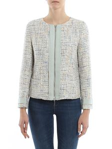 Emporio Armani - Lurex trim bouclé jacket in grey